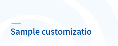 Muestra customizatio